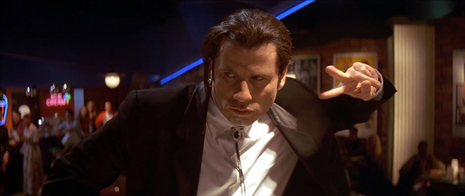 Travolta baila en Pulp Fiction de Tarantino